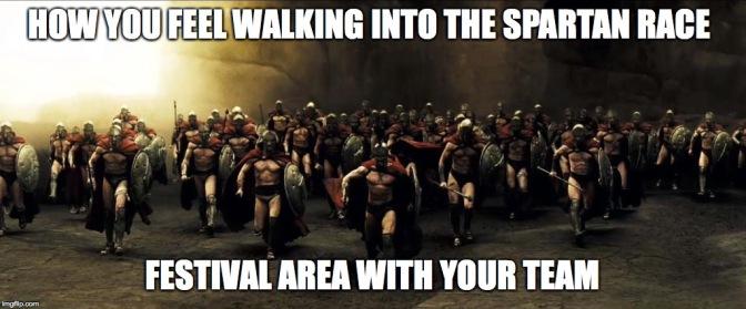 Spartan crew festival area meme