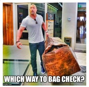 the rock bag check meme