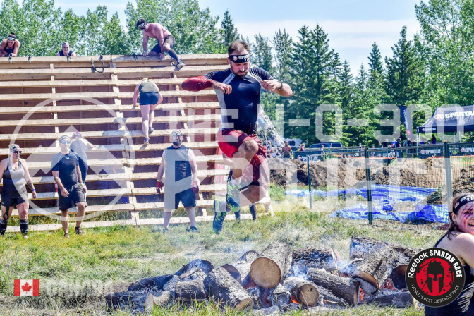 fire jump red deer spartan sprint 2017