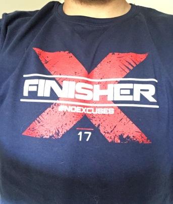 x warrior 2017 finisher shirt