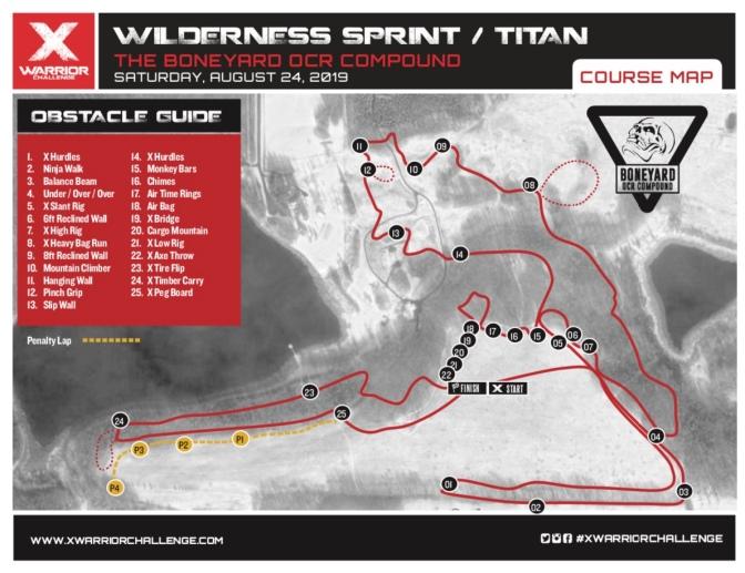 X Warrior Wilderness 2019 Map